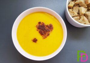 zupa krem z dyni, zupa z dyni, zupa dyniowa, przepisy z dynią
