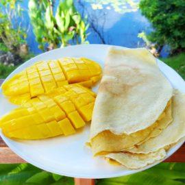 Przepyszne, kokosowe naleśniki dla aktywnych