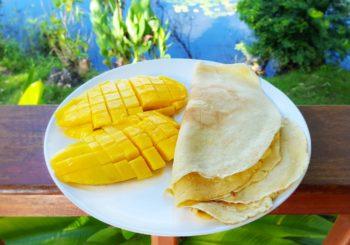 Przepyszne kokosowe naleśniki dla aktywnych